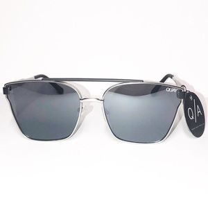 Quay Cassius Silver Black Mirrored & Smoke Sunnies